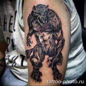 Фото рисунка тату оборотень 24.11.2018 №014 - photo tattoo werewolf - tattoo-photo.ru