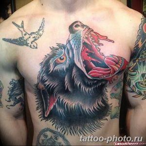 Фото рисунка тату оборотень 24.11.2018 №022 - photo tattoo werewolf - tattoo-photo.ru