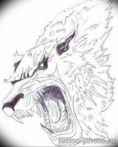 Фото рисунка тату оборотень 24.11.2018 №024 - photo tattoo werewolf - tattoo-photo.ru