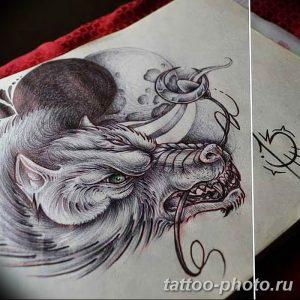 Фото рисунка тату оборотень 24.11.2018 №025 - photo tattoo werewolf - tattoo-photo.ru
