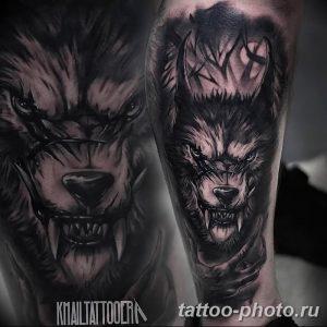 Фото рисунка тату оборотень 24.11.2018 №027 - photo tattoo werewolf - tattoo-photo.ru