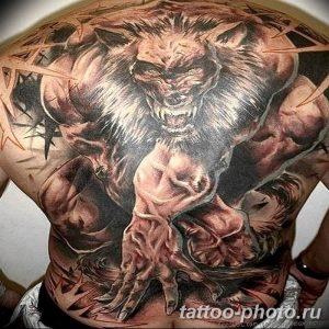 Фото рисунка тату оборотень 24.11.2018 №029 - photo tattoo werewolf - tattoo-photo.ru