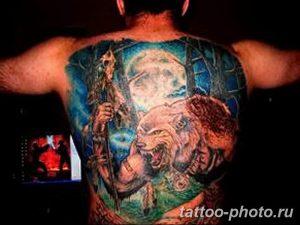 Фото рисунка тату оборотень 24.11.2018 №043 - photo tattoo werewolf - tattoo-photo.ru