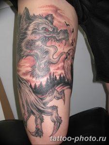 Фото рисунка тату оборотень 24.11.2018 №044 - photo tattoo werewolf - tattoo-photo.ru