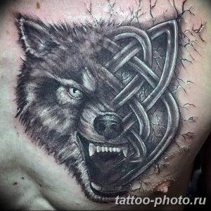 Фото рисунка тату оборотень 24.11.2018 №054 - photo tattoo werewolf - tattoo-photo.ru