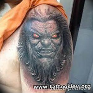 Фото рисунка тату оборотень 24.11.2018 №056 - photo tattoo werewolf - tattoo-photo.ru