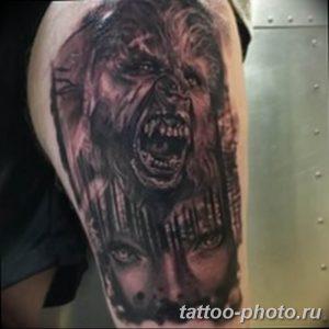 Фото рисунка тату оборотень 24.11.2018 №058 - photo tattoo werewolf - tattoo-photo.ru