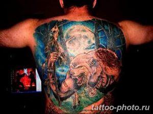 Фото рисунка тату оборотень 24.11.2018 №059 - photo tattoo werewolf - tattoo-photo.ru