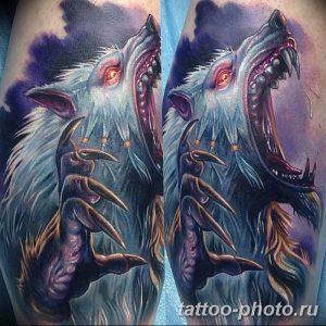 Фото рисунка тату оборотень 24.11.2018 №065 - photo tattoo werewolf - tattoo-photo.ru