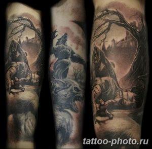 Фото рисунка тату оборотень 24.11.2018 №086 - photo tattoo werewolf - tattoo-photo.ru