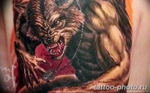 Фото рисунка тату оборотень 24.11.2018 №090 - photo tattoo werewolf - tattoo-photo.ru