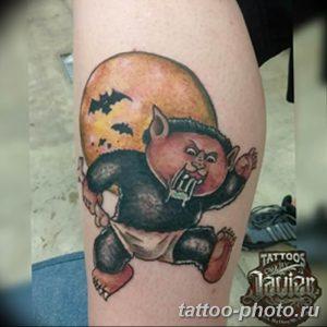 Фото рисунка тату оборотень 24.11.2018 №094 - photo tattoo werewolf - tattoo-photo.ru