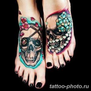 Фото рисунка тату череп 24.11.2018 №004 - photo tattoo skull - tattoo-photo.ru