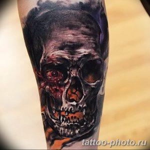 Фото рисунка тату череп 24.11.2018 №009 - photo tattoo skull - tattoo-photo.ru