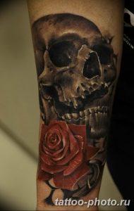 Фото рисунка тату череп 24.11.2018 №012 - photo tattoo skull - tattoo-photo.ru