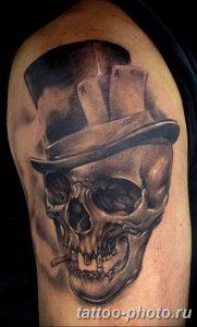 Фото рисунка тату череп 24.11.2018 №014 - photo tattoo skull - tattoo-photo.ru