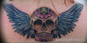 Фото рисунка тату череп 24.11.2018 №016 - photo tattoo skull - tattoo-photo.ru