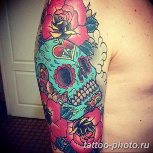 Фото рисунка тату череп 24.11.2018 №023 - photo tattoo skull - tattoo-photo.ru