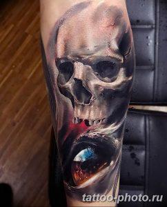 Фото рисунка тату череп 24.11.2018 №025 - photo tattoo skull - tattoo-photo.ru
