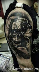 Фото рисунка тату череп 24.11.2018 №026 - photo tattoo skull - tattoo-photo.ru