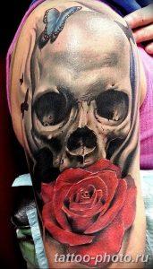 Фото рисунка тату череп 24.11.2018 №043 - photo tattoo skull - tattoo-photo.ru