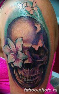 Фото рисунка тату череп 24.11.2018 №046 - photo tattoo skull - tattoo-photo.ru