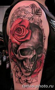 Фото рисунка тату череп 24.11.2018 №049 - photo tattoo skull - tattoo-photo.ru