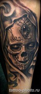 Фото рисунка тату череп 24.11.2018 №064 - photo tattoo skull - tattoo-photo.ru