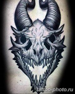 Фото рисунка тату череп 24.11.2018 №067 - photo tattoo skull - tattoo-photo.ru