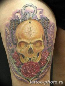 Фото рисунка тату череп 24.11.2018 №072 - photo tattoo skull - tattoo-photo.ru