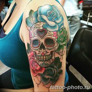 Фото рисунка тату череп 24.11.2018 №074 - photo tattoo skull - tattoo-photo.ru