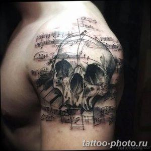 Фото рисунка тату череп 24.11.2018 №078 - photo tattoo skull - tattoo-photo.ru