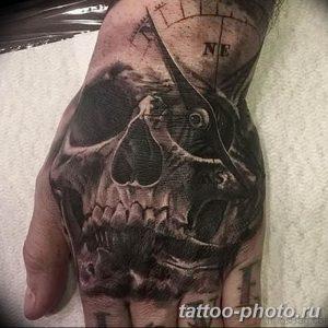 Фото рисунка тату череп 24.11.2018 №087 - photo tattoo skull - tattoo-photo.ru