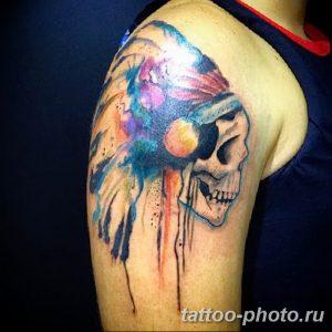 Фото рисунка тату череп 24.11.2018 №089 - photo tattoo skull - tattoo-photo.ru