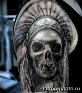 Фото рисунка тату череп 24.11.2018 №093 - photo tattoo skull - tattoo-photo.ru