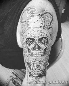 Фото рисунка тату череп 24.11.2018 №096 - photo tattoo skull - tattoo-photo.ru
