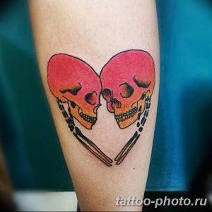 Фото рисунка тату череп 24.11.2018 №097 - photo tattoo skull - tattoo-photo.ru