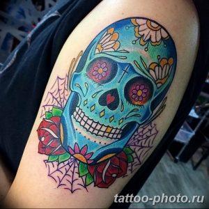 Фото рисунка тату череп 24.11.2018 №120 - photo tattoo skull - tattoo-photo.ru