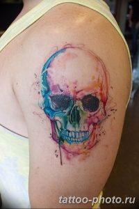 Фото рисунка тату череп 24.11.2018 №123 - photo tattoo skull - tattoo-photo.ru