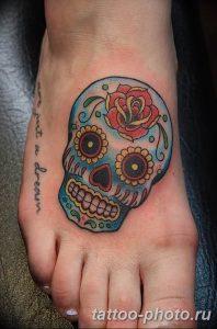 Фото рисунка тату череп 24.11.2018 №124 - photo tattoo skull - tattoo-photo.ru