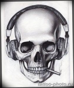 Фото рисунка тату череп 24.11.2018 №149 - photo tattoo skull - tattoo-photo.ru