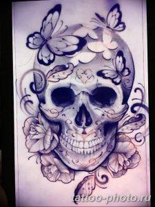 Фото рисунка тату череп 24.11.2018 №153 - photo tattoo skull - tattoo-photo.ru