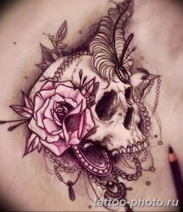 Фото рисунка тату череп 24.11.2018 №156 - photo tattoo skull - tattoo-photo.ru