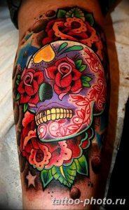 Фото рисунка тату череп 24.11.2018 №160 - photo tattoo skull - tattoo-photo.ru