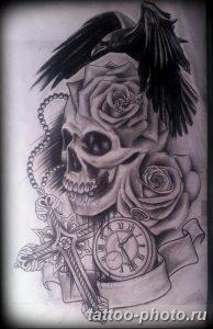 Фото рисунка тату череп 24.11.2018 №165 - photo tattoo skull - tattoo-photo.ru