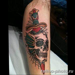 Фото рисунка тату череп 24.11.2018 №166 - photo tattoo skull - tattoo-photo.ru