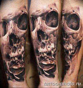 Фото рисунка тату череп 24.11.2018 №171 - photo tattoo skull - tattoo-photo.ru