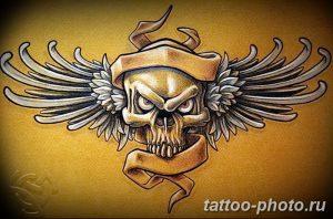 Фото рисунка тату череп 24.11.2018 №177 - photo tattoo skull - tattoo-photo.ru