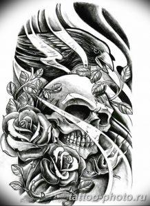 Фото рисунка тату череп 24.11.2018 №184 - photo tattoo skull - tattoo-photo.ru
