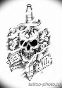 Фото рисунка тату череп 24.11.2018 №191 - photo tattoo skull - tattoo-photo.ru